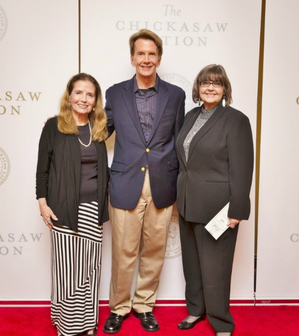 James & Elizabeth with Jeannie Barbour at the Chickasaw Nation Hall of Fame